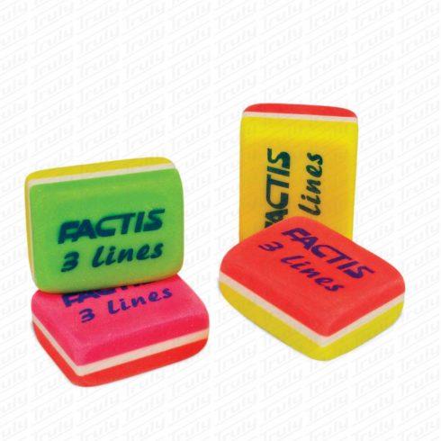 Radír Factis 3 lines színes neon cpf3