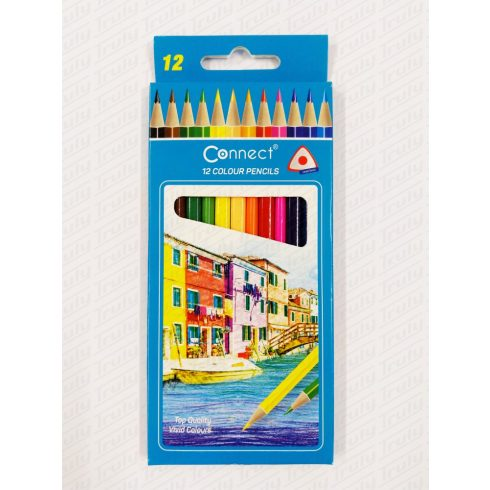 Connect színes ceruza 12 darabos háromszög