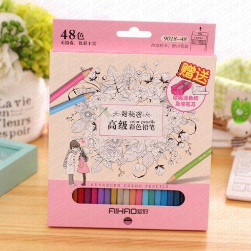 Aihao színes ceruza készlet, 48-as 9018-48