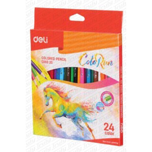 Deli 24-es háromszögletű színes ceruza készlet 00320