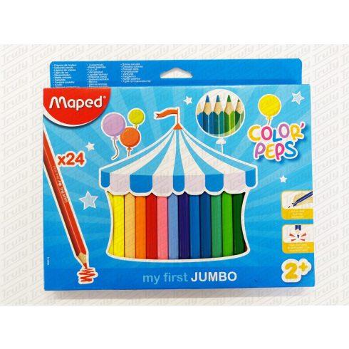 Maped színes ceruza, 24es háromszögletű Maxi