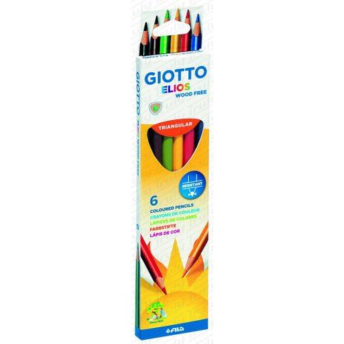 Giotto Elios famentes háromszögletű színes ceruza 6-os