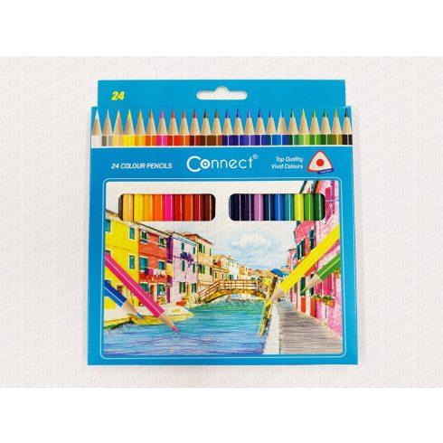 Connect háromszögletű 24-es színes ceruza készlet