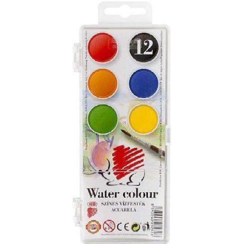 Süni vízfesték 12 színű Ico kisgombos