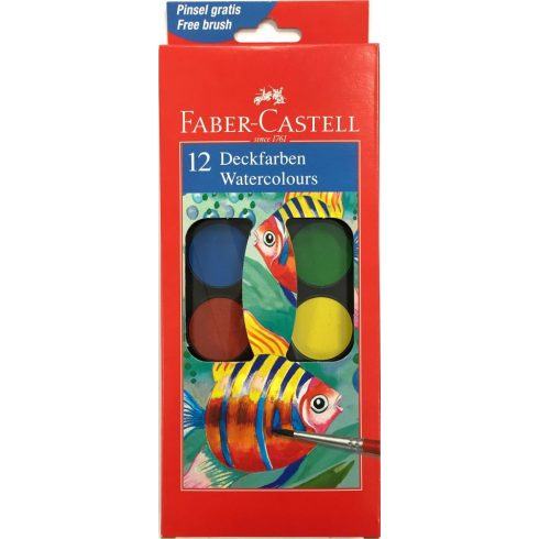 Faber Castell vízfesték 12 színű nagygombos