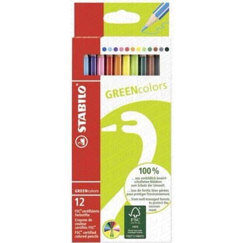 Stabilo Green Colors színes ceruza készlet 12es