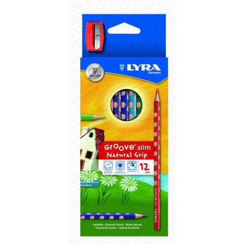 Színes ceruza 12 darabos Lyra Groove Slim