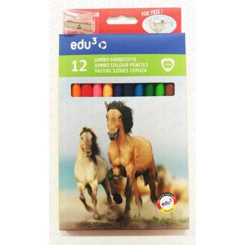 Edu3 háromszögletű Jumbo színes ceruza 12-es
