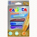 Carioca tempera kréta 6 darabos metál 42674