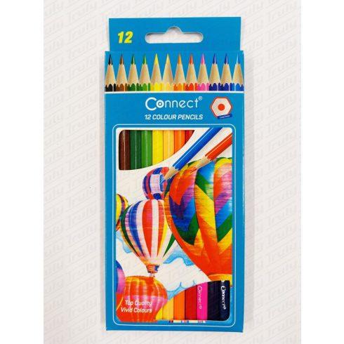 Connect ceruza hatszögletű 12-es színes készlet