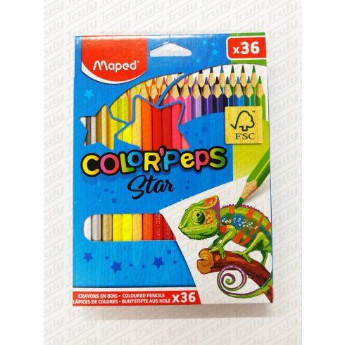 Színes ceruza Maped 36 darabos háromszög