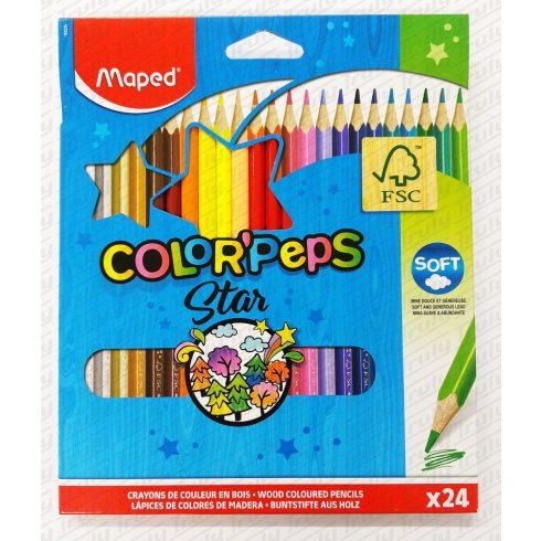 Maped színes ceruza 24 darabos háromszög