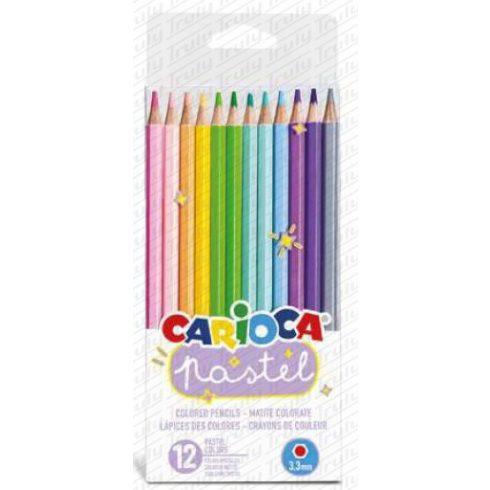 Carioca színes ceruza pasztell 12 darabos 43034