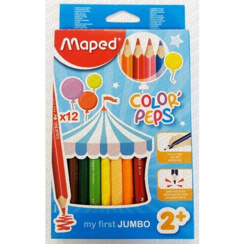 Színes ceruza Maped 12 darabos Maxi