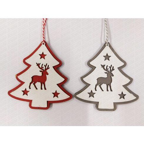 Karácsonyi fadísz fenyőfa 12cm 456757/759