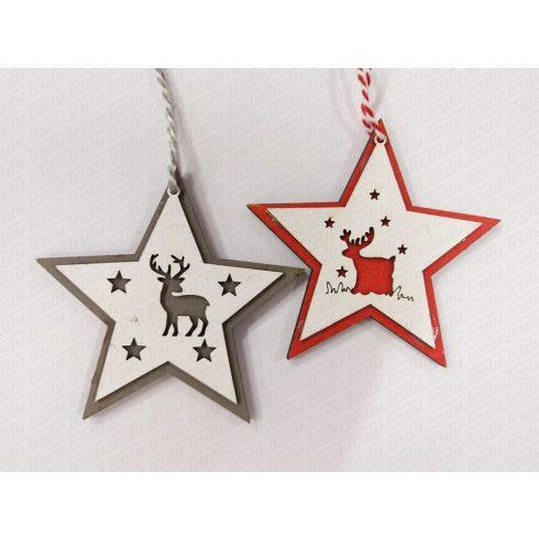 Karácsonyi fadísz csillag 10cm 456756/760