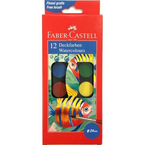 Faber-Castell vízfesték 12 színű kisgombos