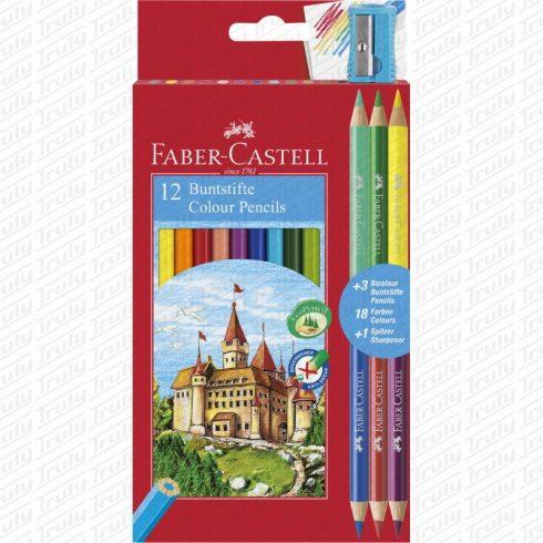 Faber Castell színes ceruza 12+3
