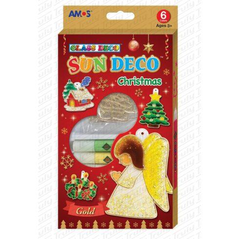 Amos üvegfesték szett karácsonyi 6 darabos + sablon