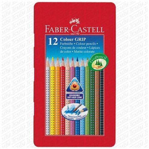 Faber Castell színes ceruza Grip 12 darabos fém dobozban