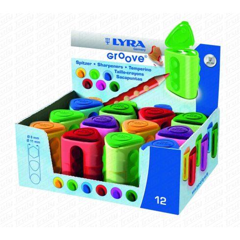 Lyra hegyező Groove kétlyukú