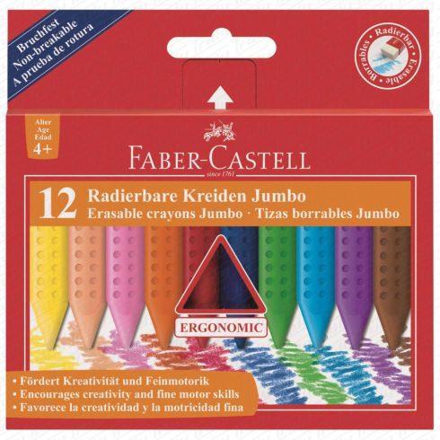 Faber Castell Grip Jumbo radírozható zsírkréta 12-es