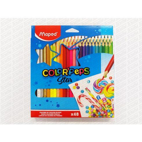 Maped színes ceruza 48 darabos háromszög