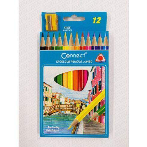 Connect színes ceruza 12 darabos Jumbo