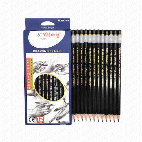 Ceruza szett YaLong 5B-5H (12 darabos)