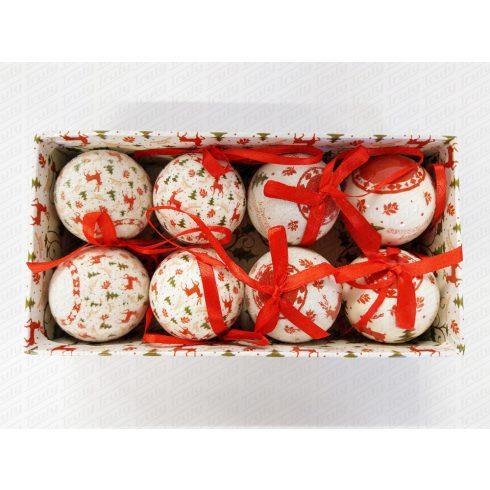 Karácsonyfadísz 5cm 8db-os - 457899