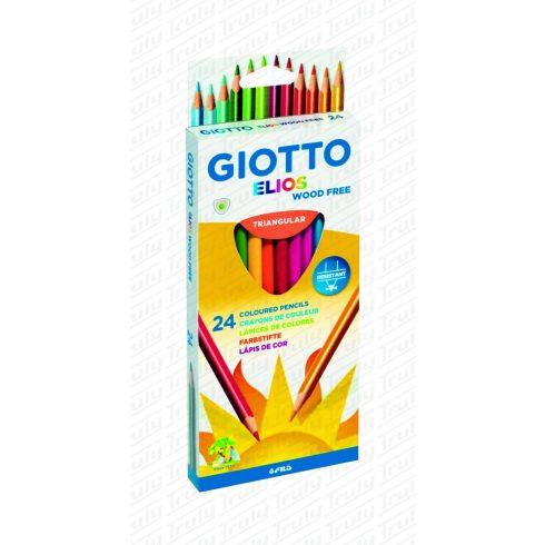 Giotto Elios famentes háromszögletű színes ceruza 24-es